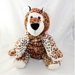 Leopard peluche PARTNER JOUET brown stained 35 cm