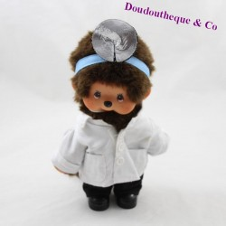 Peluche Kiki AJENA Kiki the real doctor doctor doctor with brown eyes 20 cm