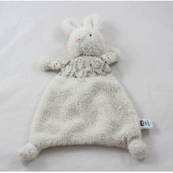 JeLLYCAT white flowery fabric rabbit soft towel 29 cm