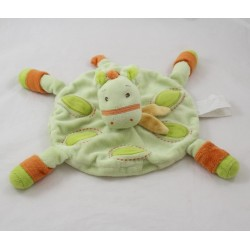 Doudou flat horse KIMBALOO round green and orange