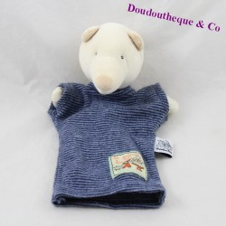 Doudou puppet bear MOULIN ROTY The large blue family 26 cm