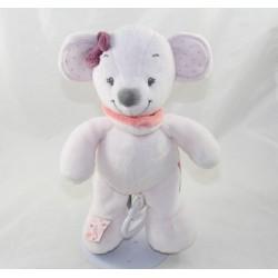 Musical towel Valentine mouse NATTOU Adele - Valentine pink 28 cm