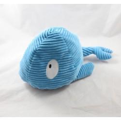 Bouillotte peluche baleine COOPER bleu blanc poche 30 cm