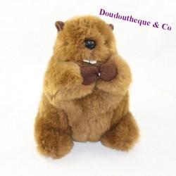 Musical marmot stuffed rodA brown 21 cm