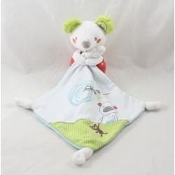 Doudou handkerchief mouse POMMETTE falls on sleep bears printed Intermarket