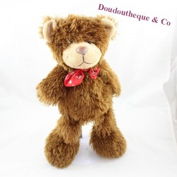 Furry brown bear long hairs red knot 35 cm