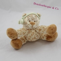 Mini plush leopard NOUKIE'S Zimbo and Leo green bandana 17 cm