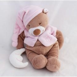 Bear Bibou bear NATTOU pink moon beige cub 27 cm