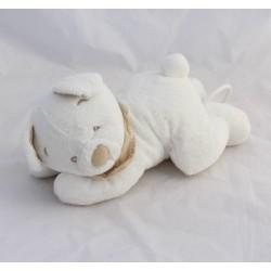 Musical bear bear SIMBA TOYS BENELUX white bandana Nicotoy 30 cm