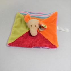Doudou flat elephant HAPPY ILLUSTRATED multicolored 21 cm