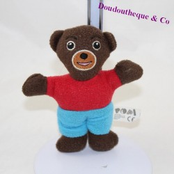 Doudou Petit Bear Brun POPI BAYARD Small Semi-flat Brown Bear 13 cm