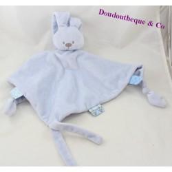 Doudou flat rabbit NATTOU Lapidou blue diamond 42 cm