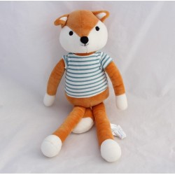 PELUCHE fox TIP'CHOU red striped jersey blue sailor Monoprix 32 cm