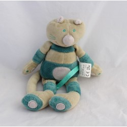 Doudou cat DPAM striped gray blue green bell 26 cm