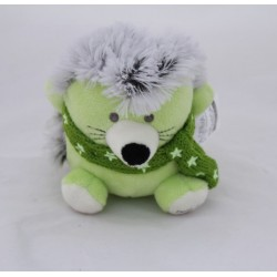 Doudou hedgehog A-DERMA green wool scarf pharmacy 12 cm