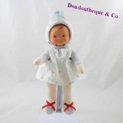 Doudou doll COROLLE white gray dress stars 25 cm