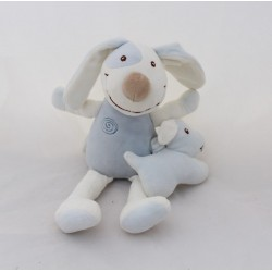Musical dog CUDDLING D'ORGE blue white spirals with soft 30 cm