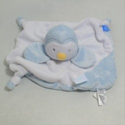 Plush Penguin NOUKIE's gray and white scarf blue