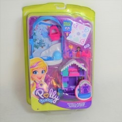 Polly Pocket MATTEL set the snowy cottage Polly stick