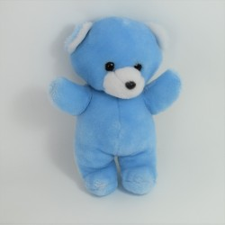 Teddy bear Teddy overalls blue gingham Bell 24 cm
