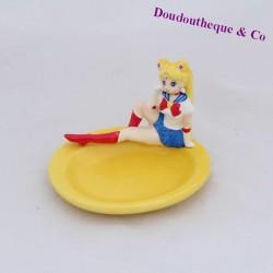Porte savon Sailor Moon vide poche céramique jaune 10 cm
