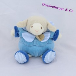 Doudou sheep Gaston DOUDOU AND COMPAGNIE Les Z'amigolos blue 22 cm