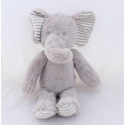 KuTITEXTILE GREY PIN grey ears with stripes 25 cm