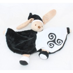 Doudou Breizh rabbit MAILOU TRADITION black and white embroidery 25 cm