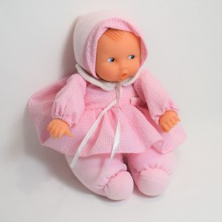 Baby doll inch COROLLE pink vichy dress year 2000 30cm