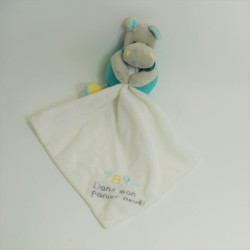 Doudou hippo handkerchief BABY NAT' nursery rhyme 7.8.9 in my new basket!