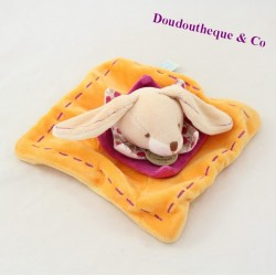 Mini flat bun rabbit Martin DOUDOU AND COMPAGNIE Les Z'amigolos orange 15 cm
