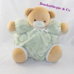 Doudou patapouf bear KALOO Green feather 25 cm