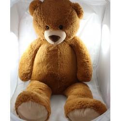 Large plush XXL bear MAX - SAX beige brown Carrefour 1m 100 cm