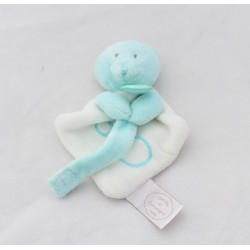 Mini DOUDOU Bear And COMPAGNIE attaches white blue collector's nipple 15 cm