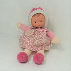 Doudou doll COROLLE Mademoiselle Myrtille polka dots dress 25 cm