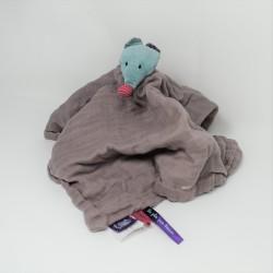 Doudou flat mouse lange MOULIN ROTY Les Jolis Pas Beaux gris and taupe