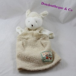 Doudou puppet sheep MOULIN ROTY The large beige family 25 cm