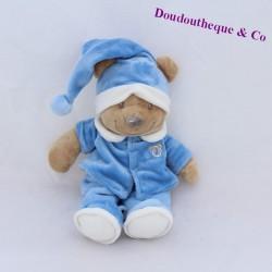 NICOTOY blue bear pajamas cap 27 cm