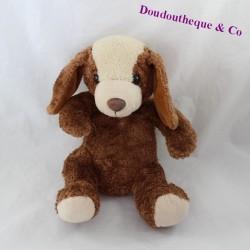 Skinned brown dog beige sitting 23 cm
