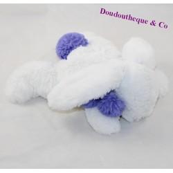 Doudou rabbit DOUDOU AND COMPAGNIE Pompon lavender DC2681 25 cm