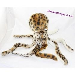 Skin brown octopus black spots sea animals octopus 45 cm