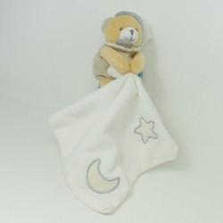 BABY NAT bear handkerchief comforter 'Luminescent star green orange 33 cm