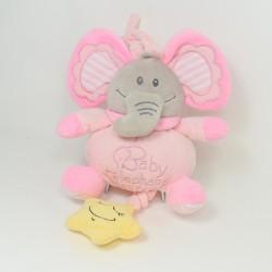 NATTOU Charlotte Elephant Cub - Pink Blue Pink Flowers 22 cm