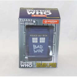 Figurine Bad Wolf Tardis WOOTBOX Doctor Who Titans cabine police