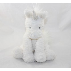 JELLYCAT white sequined unicorn with a seat 30 cm