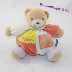 Doudou ball bear KALOO 123 blue orange 17 cm