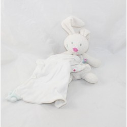 Doudou handkerchief rabbit SUCRE D'ORGE white cashew star cloud 22 cm