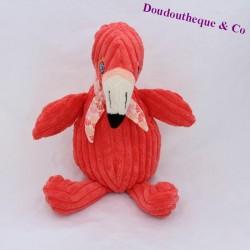 Pink Flemish towel THE DEGLINGOS Flamingos pink grooves 24 cm