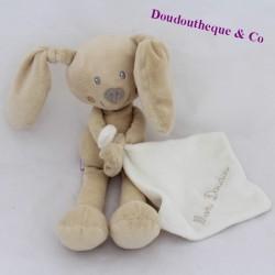 Doudou handkerchief rabbit POMMETTE My white beige Doudou 26 cm