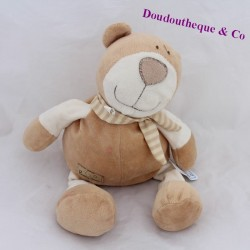 Doudou bear CREDIT AGRICOLE Healthy Green beige 32 cm
